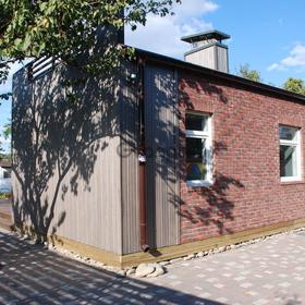 Просторный скандинавский дом с террасой в подарок