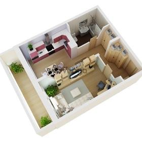 Продается квартира 1-ком 37 м² Пасечная