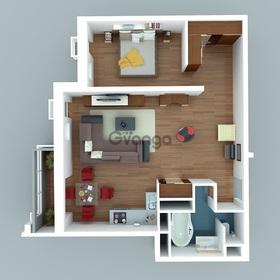 Продается квартира 1-ком 44 м² Вишнёвая
