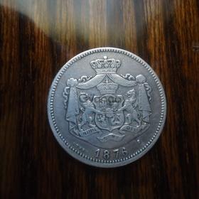 Монета 1876 год. 1 Leu.