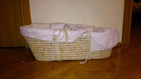 Люлька для новорожденных, плетеная корзина
