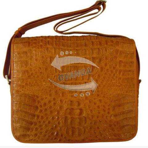 Мужская сумка из натуральной кожи крокодила