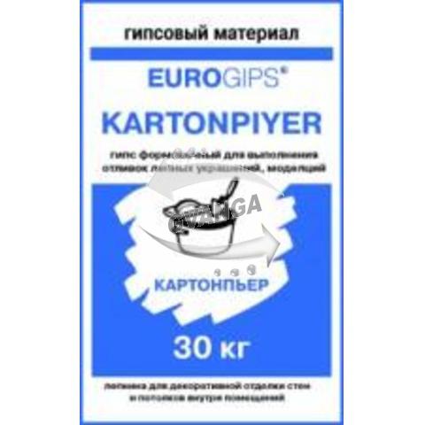 Сухая формовочная гипсовая смесь EXTRAGIPS Картонпьер, Г-12,г-16 (ГИПС) 30кг. (1уп=45шт).