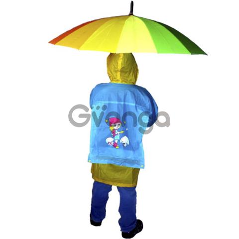 Детские виниловые плащи от дождя с картинками