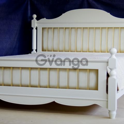 Кровать двухспальная из натурального дерева в стиле Прованс, от производителя. Гарантия качества
