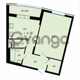 Продается квартира 1-ком 53.35 м² улица Жукова 12, метро Площадь Ленина