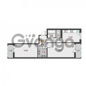 Продается квартира 2-ком 65.87 м² Немецкая улица 1, метро Улица Дыбенко