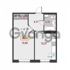 Продается квартира 1-ком 38.83 м² Немецкая улица 1, метро Улица Дыбенко