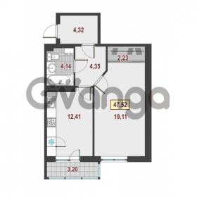 Продается квартира 1-ком 47.52 м² Европейский проспект 1, метро Улица Дыбенко
