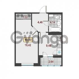Продается квартира 1-ком 40.5 м² Европейский проспект 1, метро Улица Дыбенко