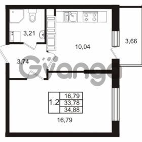 Продается квартира 1-ком 33.78 м² Комендантский проспект 53к 1, метро Комендантский проспект