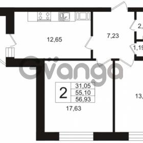 Продается квартира 2-ком 56 м² Кушелевская дорога 5к 5, метро Лесная