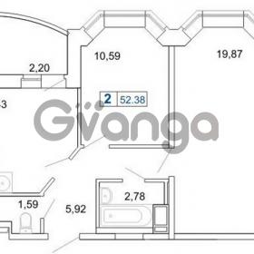 Продается квартира 2-ком 52 м² Кушелевская дорога 5к 2, метро Лесная