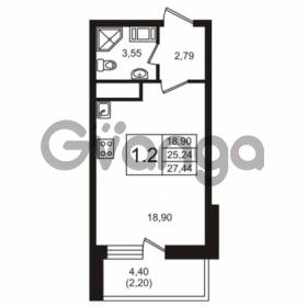 Продается квартира 1-ком 27.44 м² Кушелевская дорога 5к 5, метро Лесная