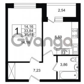 Продается квартира 1-ком 35 м² Шоссейная 1, метро Ладожская