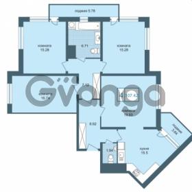 Продается квартира 4-ком 106.8 м² Дунайский проспект 7, метро Звёздная