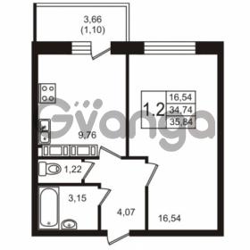 Продается квартира 1-ком 34.74 м² Советский проспект 42, метро Рыбацкое