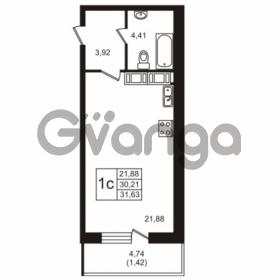 Продается квартира 1-ком 30.21 м² Советский проспект 42, метро Рыбацкое