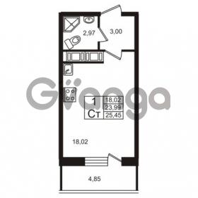 Продается квартира 1-ком 23.99 м² Советский проспект 42, метро Рыбацкое