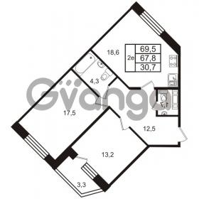 Продается квартира 2-ком 69 м² Колтушское шоссе 66, метро Ладожская