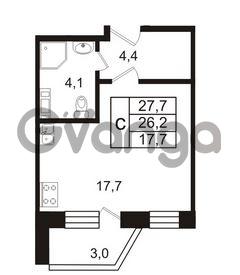 Продается квартира 1-ком 27 м² Колтушское шоссе 66, метро Ладожская