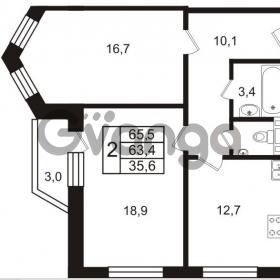 Продается квартира 2-ком 65 м² Колтушское шоссе 66, метро Ладожская