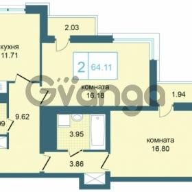 Продается квартира 2-ком 64 м² Дунайский проспект 7, метро Звёздная