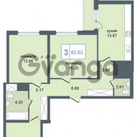 Продается квартира 3-ком 82 м² Дунайский проспект 7, метро Звёздная