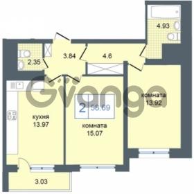 Продается квартира 2-ком 58 м² Дунайский проспект 7, метро Звёздная