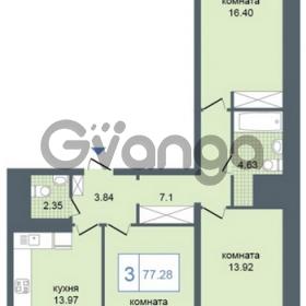 Продается квартира 3-ком 77 м² Дунайский проспект 7, метро Звёздная