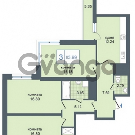 Продается квартира 3-ком 83 м² Дунайский проспект 7, метро Звёздная