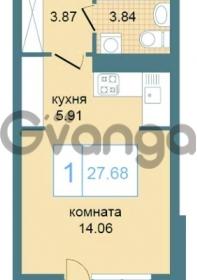 Продается квартира 1-ком 27 м² Дунайский проспект 7, метро Звёздная