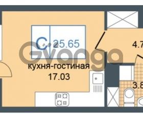 Продается квартира 1-ком 25 м² Дунайский проспект 7, метро Звёздная