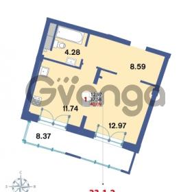 Продается квартира 1-ком 40.09 м² Савушкина 112к 4, метро Старая деревня