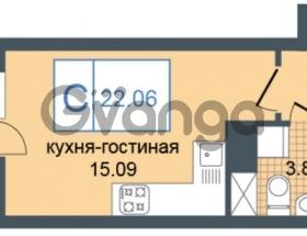 Продается квартира 1-ком 22 м² Дунайский проспект 7, метро Звёздная