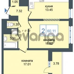 Продается квартира 2-ком 60 м² Дунайский проспект 7, метро Звёздная