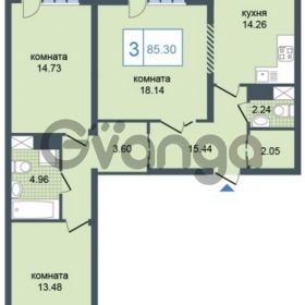 Продается квартира 3-ком 85 м² Дунайский проспект 7, метро Звёздная