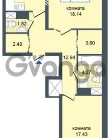Продается квартира 2-ком 74 м² Дунайский проспект 7, метро Звёздная