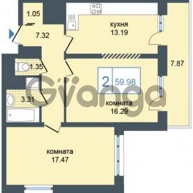 Продается квартира 2-ком 59 м² Дунайский проспект 7, метро Звёздная
