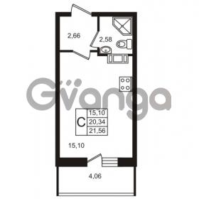 Продается квартира 1-ком 20 м² Петровский бульвар 1, метро Девяткино