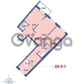 Продается квартира 3-ком 97.75 м² Савушкина 112к 4, метро Старая деревня