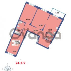 Продается квартира 3-ком 107.06 м² Савушкина 112к 4, метро Старая деревня