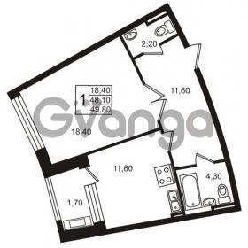 Продается квартира 1-ком 48.1 м² Приморский проспект 44, метро Старая деревня