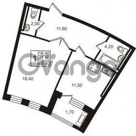 Продается квартира 1-ком 47.7 м² Приморский проспект 44, метро Старая деревня