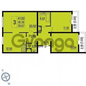 Продается квартира 3-ком 79 м² Ленинский проспект 69, метро Проспект Ветеранов