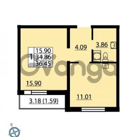 Продается квартира 1-ком 36 м² Ленинский проспект 69, метро Проспект Ветеранов