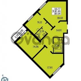Продается квартира 3-ком 83 м² Ленинский проспект 69, метро Проспект Ветеранов