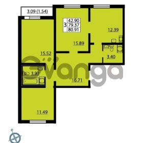 Продается квартира 3-ком 80 м² Ленинский проспект 69, метро Проспект Ветеранов