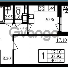 Продается квартира 1-ком 40 м² проспект Маршала Блюхера 11к А, метро Лесная