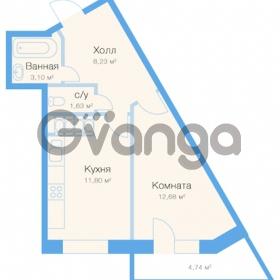 Продается квартира 1-ком 38 м² улица Николая Рубцова 11к 1, метро Парнас
